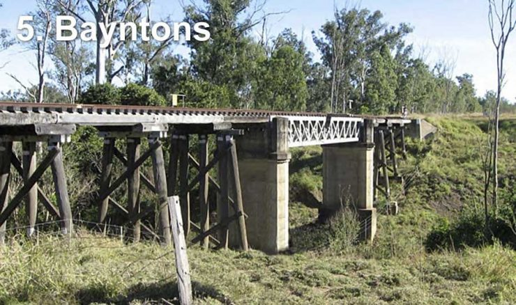 Railway bridge at Bayntons