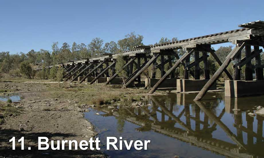 Railway bridge across the Burnett River