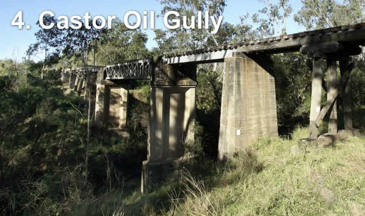Railway bridge across Castor Oil Gully