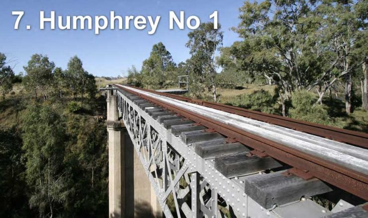 Railway bridge across Humphrey Number 1