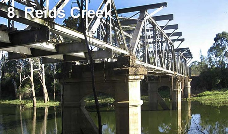 Railway bridge across Reids Creek