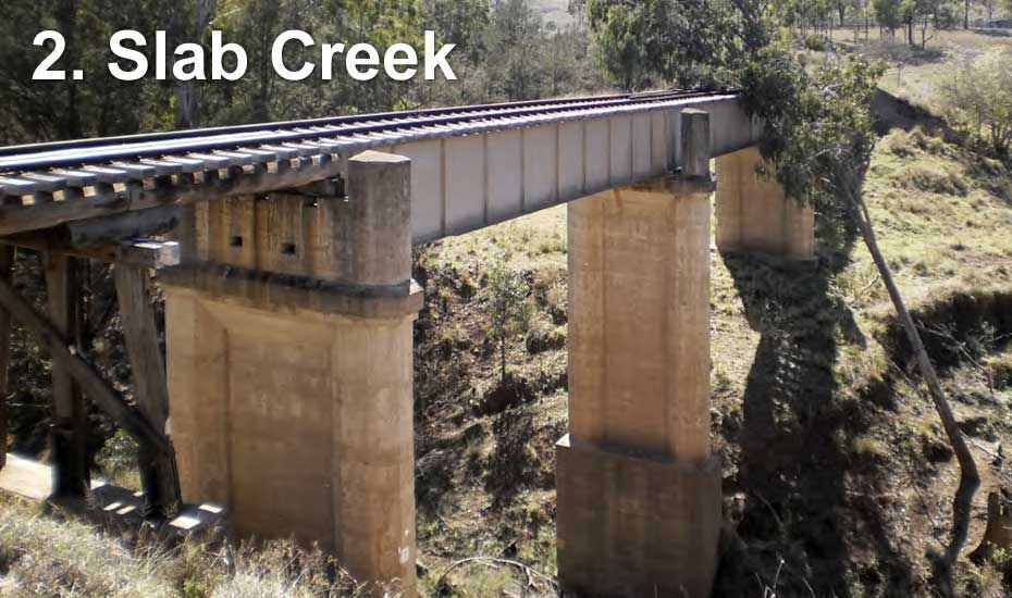Railway bridge across Slab Creek