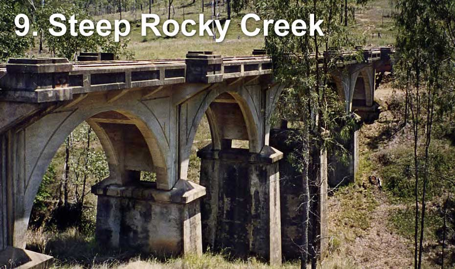 Railway bridge across Steep Rocky Creek