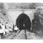 A family day out at the tunnels in the early days