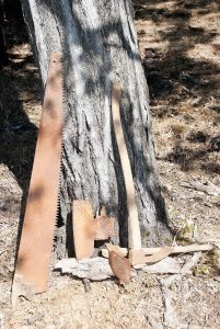 saw, adze & broad axe such as would have been used to produce hogback sleepers