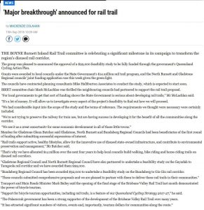 rail trail feasibility funding newspaper article