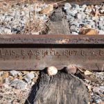 railway line stamped with 1907