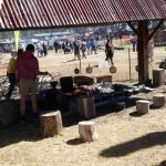 cooking dampers and stew at Mt-Larcom Show