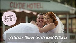 weddings at Calliope River Historical Village