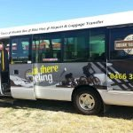 21 seater bus with advertising for Rail Trail transport services