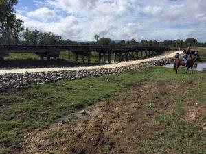 concrete causeway on Brisbane Valley Rail trail