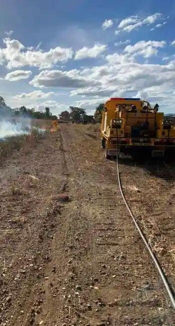 Fire truck at burn Builyan