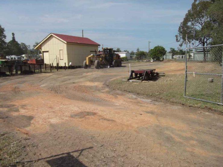 Grading the yard at Gayndah
